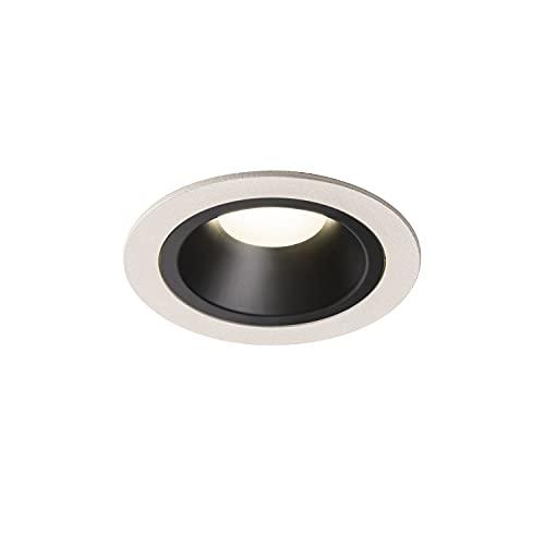 SLV NUMINOS DL M-Faretto a LED da Incasso, per Interni, IP20/IP44, 4000 K, 17,55 W, 1600 lm, Bianco 40 Gradi