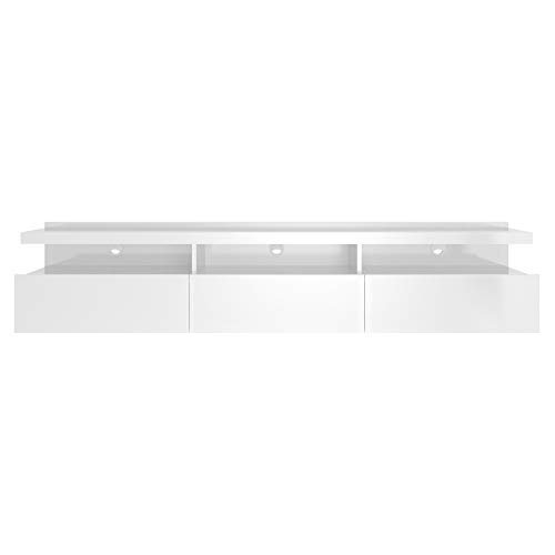 Manhattan Comfort Cabrini Modern 3 Drawer Half Floating Entertainment Center, 71.25