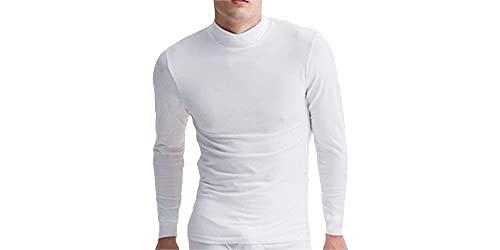 Camiseta Interior Térmica para Hombre - Cuello Alto - Colores básicos a Elegir (Blanco, XL)
