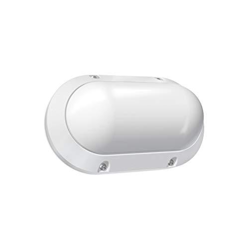 Volton - Aplique de Pared LED Ovalado Blanco para Exterior, IP65 7W 550Lm 4000K