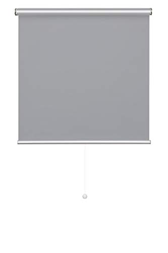Verdunkelungsrollo Thermo Rollo Springrollo Klemmfix ohne Bohren 100 * 180 cm Grau Schnapprollo Schnurlos easyfix lichtundurchlässig Sichtschutz Sonnenschutz für Fenster & Tür