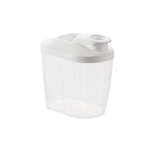 YUMEIGE Caja de almacenamiento de cosméticos Tarro hermético transparente con tapa oblicua, botella de almacenamiento de té de cocina, frasco de almacenamiento multigrino de plástico, caja de almacena