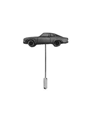 Krawattennadel, Motiv: Oldtimer Opel Manta ref173, Zinn-Effekt, Motiv auf einem Krawattennadel, Hut, Schal, Kragen, Mantel, Oldtimer