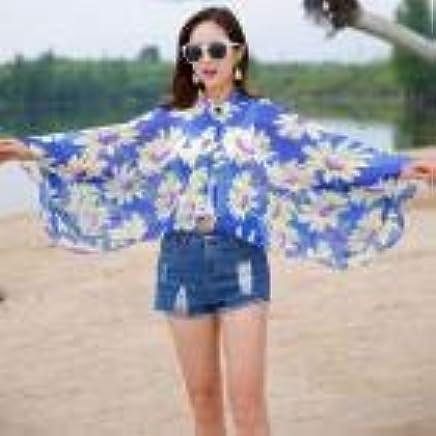 CUSHY Solid Color New Lady Women Vacation Sunscreen Shawl Beach Shawl Chiffon Sunscreen Clothes 2019 Refreshing
