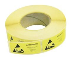 Best Price Square Labels, ESD Warning, Yellow, 50MM, 66M 055-0002 by MULTICOMP