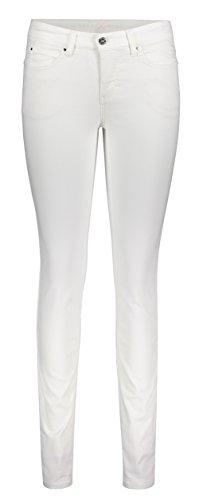 MAC Damen Straight Leg Jeanshose Dream Skinny, Gr. W30/L32 (Herstellergröße: 00/32), Weiß (white denim D010)