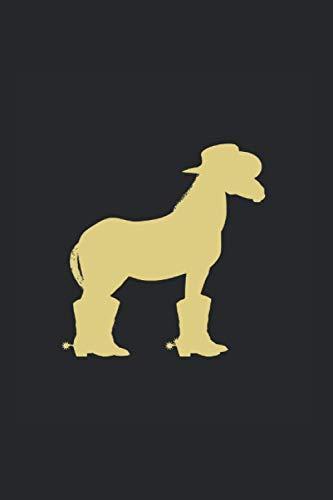 Line Dance Notizbuch: Line Dance Cowboy Pferd Hut Stiefel als Geschenkidee als Planer Tagebuch Notizheft oder Notizblock 6x9 DIN A5 120 Seiten   Blank
