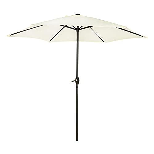 Aktive - Parasol hexagonal Garden diámetro 2,5 m - Mástil de aluminio 34 mm - Color vainilla (ColorBaby 53866)