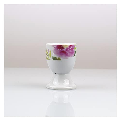 Huevera Tabla de huevo de cerámica Bandeja de huevos Mesa de almacenamiento de porcelana Copa de huevo creativa Utensilios Hueveras de porcelana (Color : B)