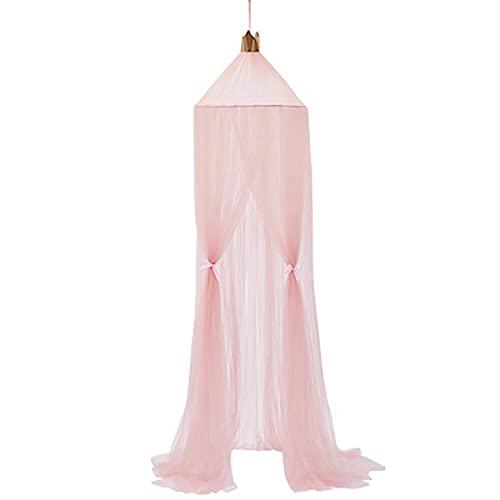 73FACAI Hada Colgante Princesa Mosquitera Corona Pantalla Redonda Dosel Cama Gasa Jardín Camping Decoración de la Habitación de Los Niños con Mosquitera,Pink