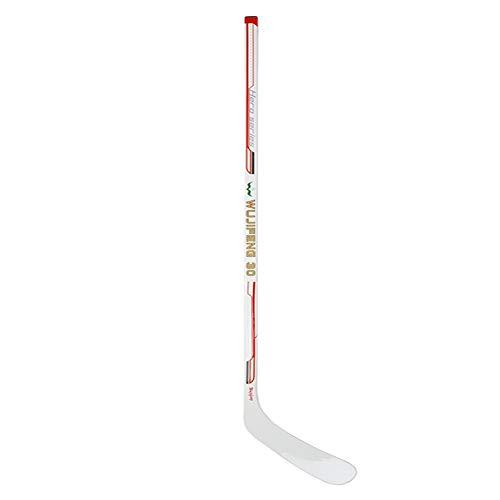 Yamyannie-Sports Eishockeyschläger Ice Hockey-Stöcke 50% Carbon-Straße Hockey-Stock-Qualitäts-Durable Design mit Carbon-Faser Klinge (Farbe : Weiß, Größe : Einheitsgröße)