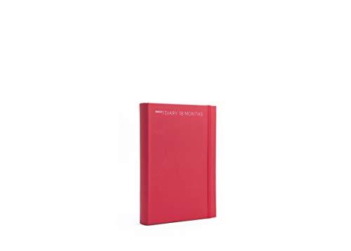 Agenda giornaliera 18 mesi 2021 colore rosso cm 11 x 16,5