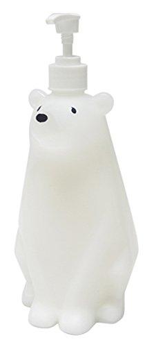 ハシートップイン ソープ・シャンプー用ディスペンサー ホワイト サイズ:W111×H260×D135mm