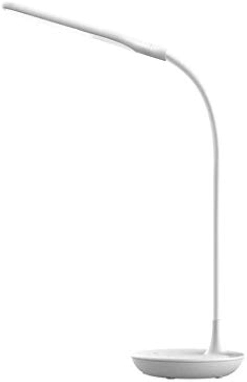 YUMUYMEY LED-Tischleuchte Dreistufige Dimm-Faltschlauch Aus Kunststoff USB-Schnittstelle Schülerzimmer Lernlampe (Farbe