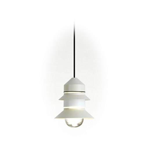 Lámpara Colgante LED E27 8W con difusor de Cristal soplado y prensado, Modelo Santorini IP20, Color Blanco Roto, 21,2 x 21,2 x 25,8 centímetros (Referencia: A654-052)