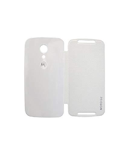 COVERNEW Flip Cover for Motorola Moto G (2nd Generation) Moto G2 - White