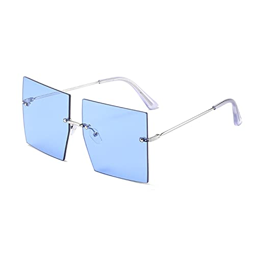 Único Gafas de Sol Sunglasses Gafas De Sol Marrones De Una Pieza De Gran Tamaño Hombres Mujeres Gafas De Sol Cuadradas G