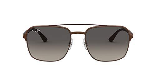 Ray-Ban 3570 Gafas de sol, Brown, 58 Unisex-Adulto