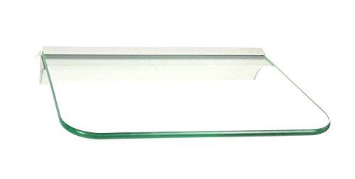 Glasregal 30x20 cm Glas klar mit Profil Silber, abgerundete Ecken ROY15 / 1 Regal