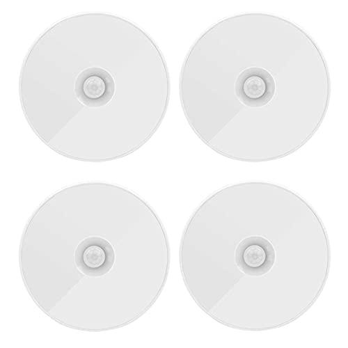 Cages DIRIGIÓ Luz de Noche con la iluminación del gabinete del Sensor de Movimiento. USB Luces de Puck Recargable para escaleras Armarios de baño Armario Aseo Aseo Hall vía de Cocina (Paquete de 4)