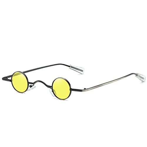 Dan&Dre Gafas de sol retro punk, unisex, vintage, rock, punk, clásicas, pequeñas, redondas, con marco de metal, antirayos UV