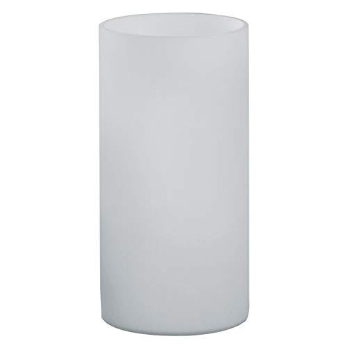 EGLO Tischlampe Geo, 1 flammige Tischleuchte Modern, Minimalismus, Nachttischlampe aus opal-mattem Glas, Wohnzimmerlampe in Weiß, Lampe mit Schalter, E14 Fassung