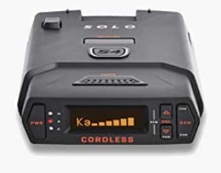 Escort Solo S4 Radar Detector - Cordless, Escort Live Crowd Sourcing, Extreme Range, False Alert Filter, OLED Display