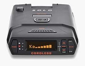 Escort Solo S4 Radar Detector - Cordless, Escort Live Crowd Sourcing, Extreme Range, False Alert Filter, OLED Display, Clear Voice Alerts