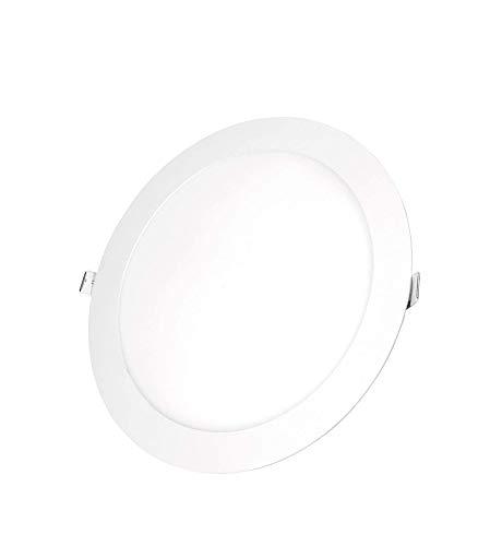 POPP- (Pack x 2 )downlight led Placa LED redondo 24W luz neutro chip OSRAM (4000K, 24W)[Clase de eficiencia energética A+]