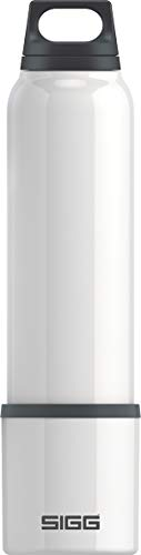 SIGG Hot und Cold White Thermo Trinkflasche (1 L), schadstofffreie und isolierte Trinkflasche, auslaufsichere Thermo-Flasche aus Edelstahl