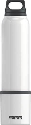 SIGG Hot & Cold White Thermo Trinkflasche (1 L), schadstofffreie und vakuumisolierte Trinkflasche, auslaufsichere Thermo-Flasche aus Edelstahl