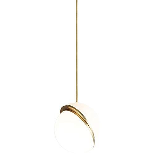 STAGE LIGHTING Araña, Bola nórdica LED Personalidad Creativa única cabecera habitación Sala de Comedor Barra de Cama Chandelier [Clase de energía A++]