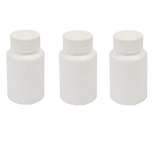12 botes de plástico vacíos de 80 ml, rellenables, de color blanco, para el cuidado de la salud, dispensador de dulces, en polvo, para viajes y la vida cotidiana