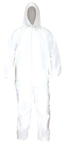 SAS Safety 6893 Gen-Nex All-Purpose Hooded Painter's Coverall, Large,White
