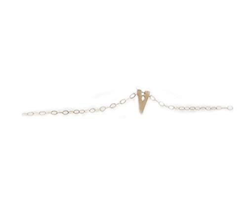 Collar con colgante en forma de letra de oro con letras del alfabeto, inicial en V, regalo de cumpleaños, amuleto de la suerte, collar en capas