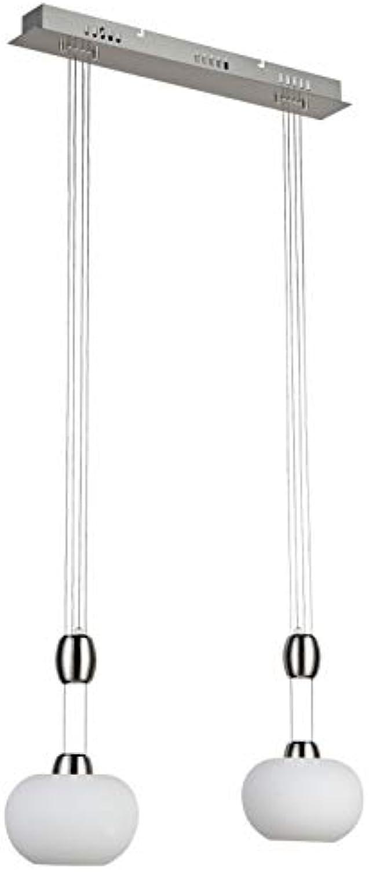 Halogen Deckenleucht Yo-Yo-Lampe Pendelleuchte mit weissem Opalglas 2 flammig inklusive Leuchtmittel 2x 35 W Hngeleuchte