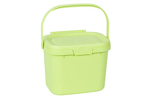 Lowest Prices! Addis Everyday Kitchen Food Waste Compost Caddy Bin, 4.5 Litre, Mint Green