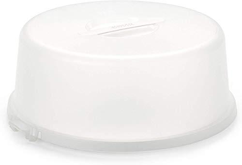 Emsa Basic Contenitore per Torte, Bianco/Translucido, 33 cm