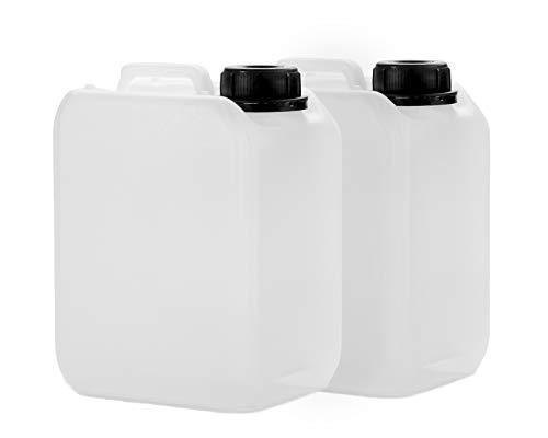 2x 2,5L Kanister aus HDPE, mit Deckel DIN 45 mm und UN Zulassung, Wasserkanister, lebensmittelecht