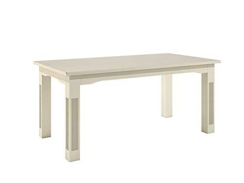 casamia Esstisch Esszimmer-Tisch 160 x 95 cm Feste Platte, Pinie massiv lipizano Farbe Pinie lipizano