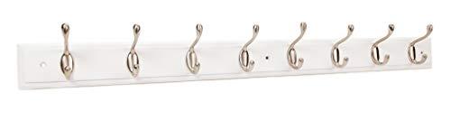 keypak Keys, Wandgarderobe mit 2 Haken, Weiß, Nickel satiniert, 8 Hook