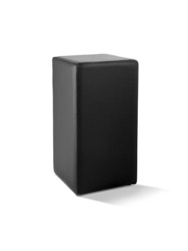 POMP Tresenhocker, mit komfortabler Polsterung, B = 33 cm, T = 33 cm, H = 65 cm, echtes Leder, schwarz