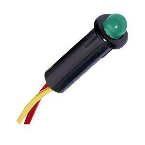 """The Amazing Quality Paneltronics LED Indicator Light - Green - 120 VAC - 1/4"""""""