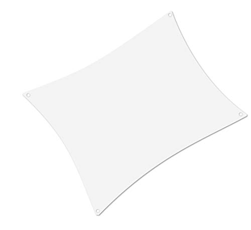 ALOHA Sonnensegel mit UV Schutz wasserabweisend Windschutz wetterschutz Garten und Terrasse (Weiß, Rechteck 2x4m)