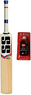 SS Combo T20 Power Size-SH Kashmir Willow Leather Cricket BAT and Bat Care Oil 100 ML Cricket Kit