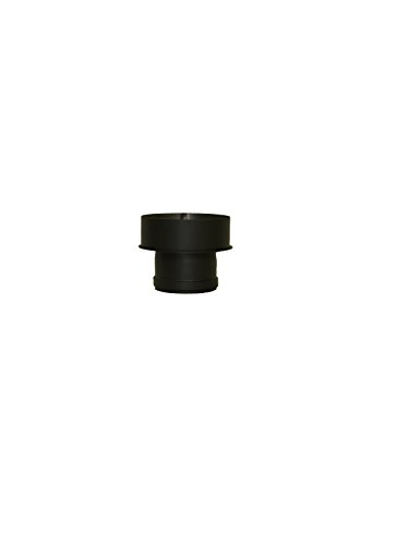 LANZZZAS Pellet Pellet rookpijp pelletkachel uitbreiding kleur zwart Ø 100 mm op Ø 150 mm