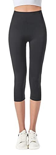 Jophy & Co. 3/4-Leggings für Damen, elastisch, für Yoga und Pilates, Artikelnr. 9901)., Schwarz , Large