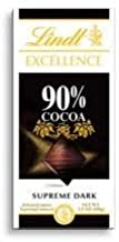 Lindt Excellence Bar (Dark Chocolate 90% Cocoa) - Pack of 4