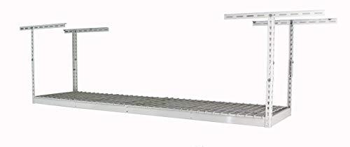 MonsterRax-2x8 Overhead Garage Storage Rack (White, 18