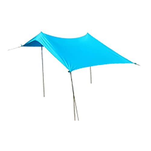 ZQYX Lluvia Mosca Camping Lona, Tapa de Tiendas Impermeables multifuncionales, Prueba de Agua a Prueba de Viento Camping a Prueba de Viento Camping Picnic Mat Anti UV Sun, Adecuado para Senderismo